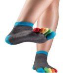 Knitido Rainbow Moods - Calcetines con dedos Arco Iris, tobillo alto