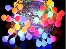 Cadena de Luces - Guirnalda Luces 10M 100 LED Cuerda Luces Bombillas Multicolor Decoración Interior, Jardines, Casas, Boda, Fiesta de Navidad (Multicolor) [Clase de eficiencia energética A+++]