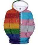 JunMei Sudadera con Capucha Unisex LGBT Pride, Sudadera Tipo Jersey Gay Parade con Grandes Bolsillos