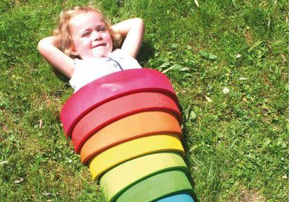 Arcoíris Waldorf de Grimm's, juegos educativos Colores del Arcoíris con piezas de madera