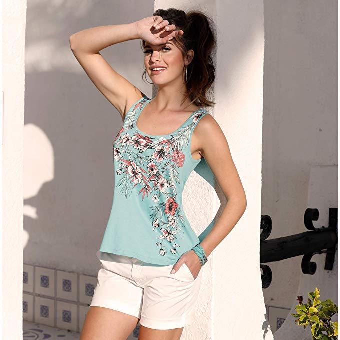 Tendencias Moda Primavera Verano 2020. VENCA Bermuda Pinzas en la Espalda Mujer by Vencastyle