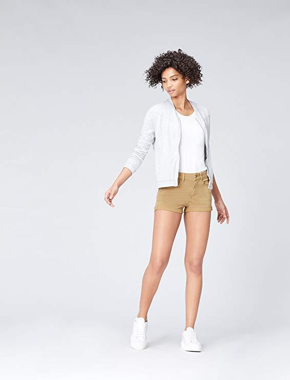 Tendencias Moda Primavera Verano 2020. Amazon - find. Pantalón Corto Vaquero Suave para Mujer. Shorts