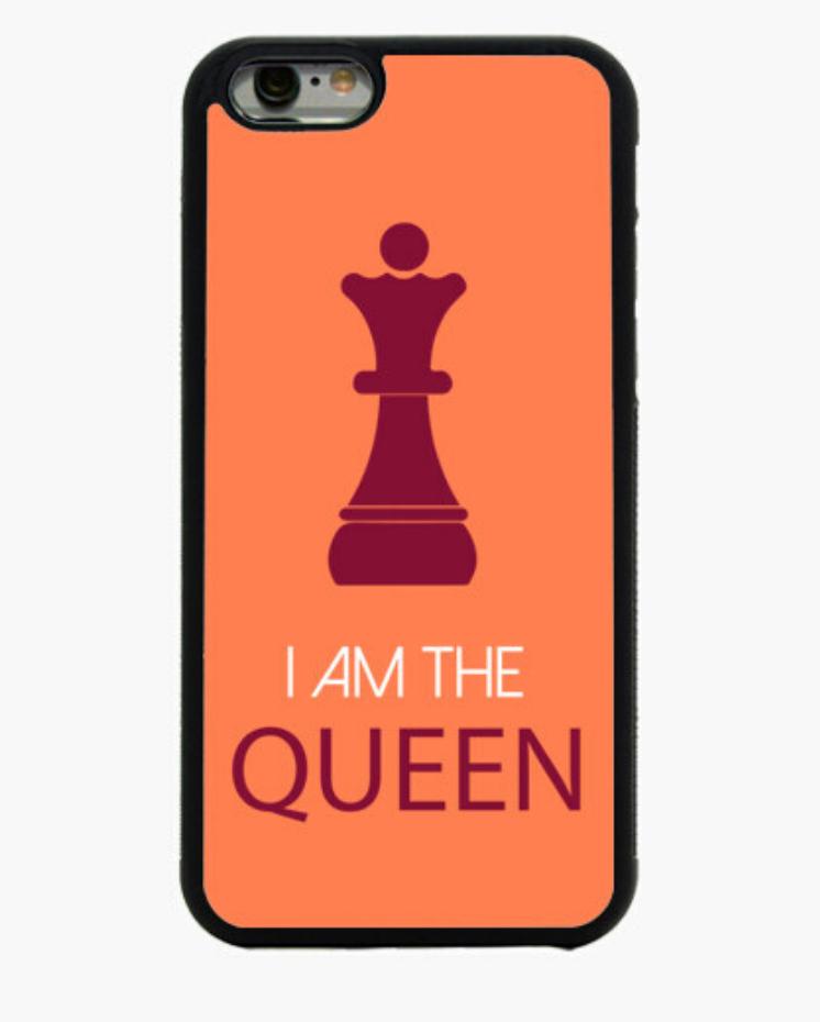 Fundas Móbil Iphone Padre Guisante la Tostadora en Colores del Arcoíris. Fundas Colección Ajedrez I Am The Queen
