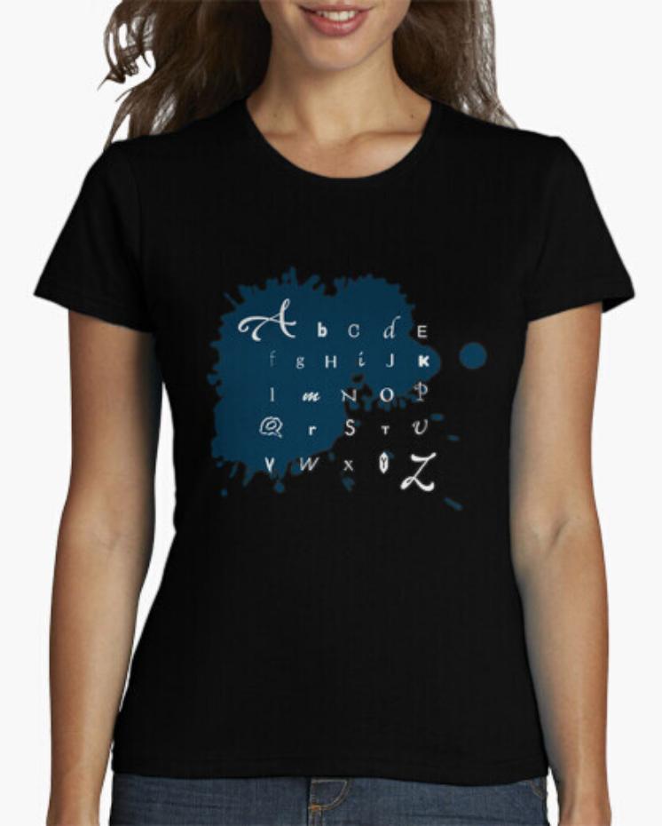Camisetas el Padre Guisante la Tostadora Colores del Arcoíris. Camiseta Clásica para mujer. Camiseta negra para mujer. Camiseta manga corta divertida. Camiseta colección letras y abecedario