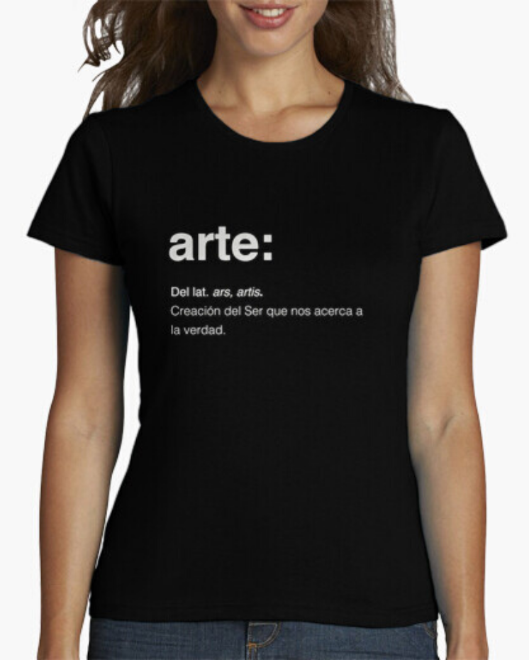 Camisetas el Padre Guisante la Tostadora Colores del Arcoíris. Camiseta Clásica. Camiseta Mujer color negra. Camiseta con lema Arte