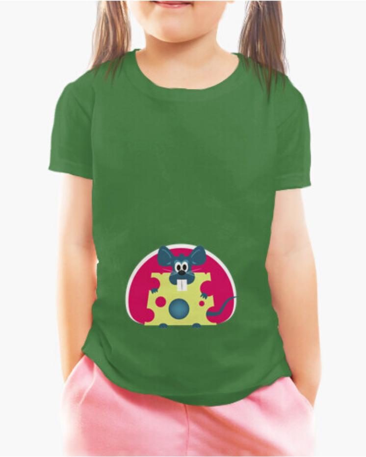 Camisetas Padre Guisante la Tostadora en Colores del Arcoíris. Camiseta Niños y Niñas color verde. Camiseta colección el Ratón Glotón el Padre Guisante