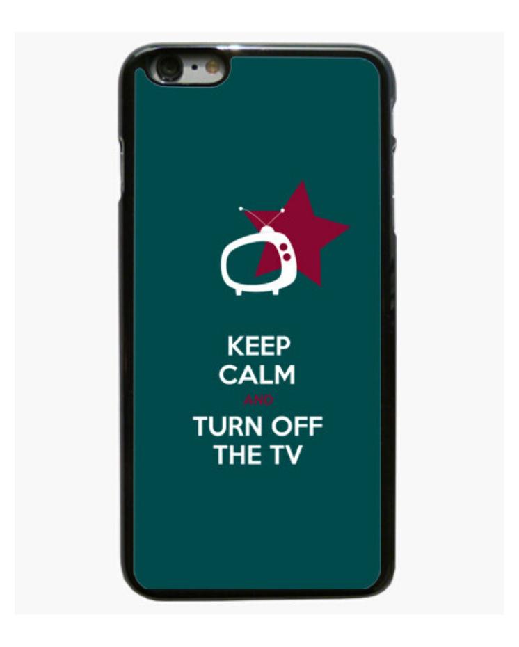 Funda Móbil Iphone el Padre Guisante la Tostadora en Colores del Arcoíris. Funda móbil Keep Calm and Turn off the TV