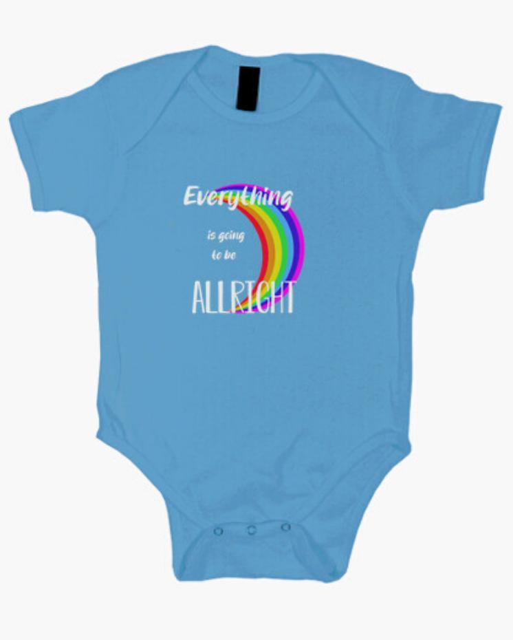 Body el Padre Guisante Colores del Arcoíris. Body para bebé color azul