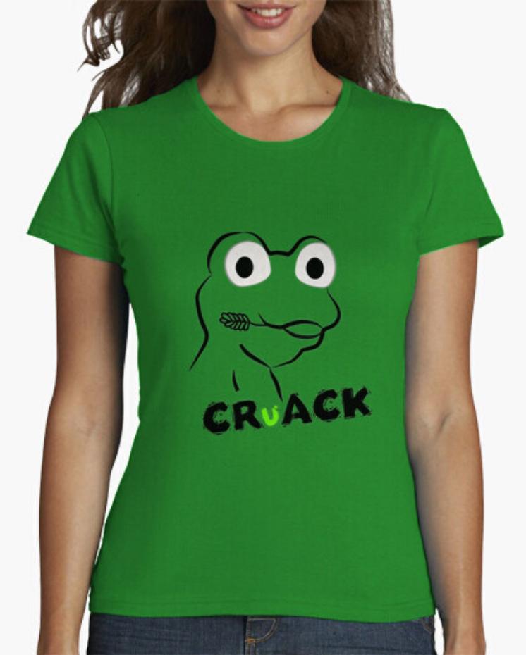 Camisetas el Padre Guisante en Colores del Arcoíris. Camiseta verde colección Cruak Rana Froggy. PersonalizarDelante Diseño CAMISETA CRUACK. Camiseta rana