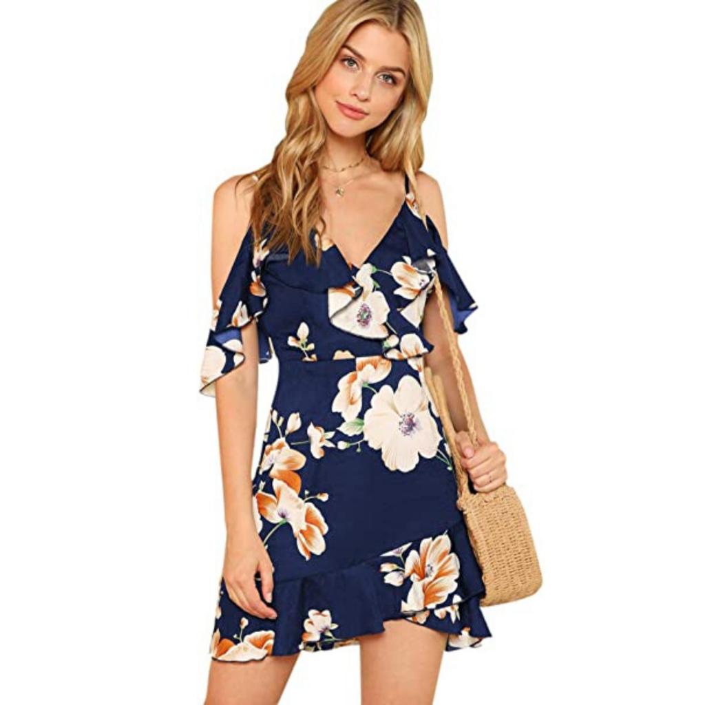 Moda Mujer en Colores del Arcoíris. Moda en Flores: vestidos, vestidos de fiesta, casual, camisetas, jerseys, pantalones, ropa deportiva, calzado mujer