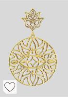 Mejores Pendientes Mujer Amazon en Colores del Arcoíris. Thomas Sabo D_H0008-924-39 - Pendientes para mujer (1 par, plata chapada en oro, diamantes de 0,2 ct), diseño de flor de loto