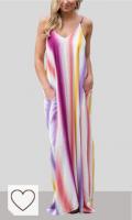 Vestidos Tie Dye Mujer en Colores del Arcoíris. Onsoyours Verano Mujer Casual Playa Largos Verano Playa Boho Cuello V Falda Playa Sin Mangas Floral Elegante Maxi Vestido Playeros
