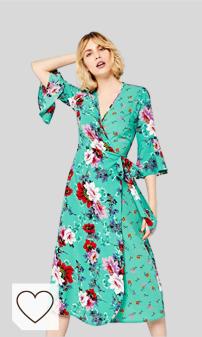Moda Otoño Invierno 2020 para Mujer en Moda Amazon. Marca Amazon - find. Vestido Cruzado de Flores Mujer