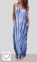 Mejores Vestidos Tie Dye Mujer en Colores del Arcoíris. VONDA Vestidos Mujer Casual Playa Cuello en V Bohemio Maxi Vestido con Aberturas Laterales