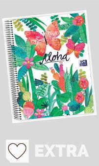 Mejores Cuadernos Oxford en Amazon y en Colores del Arcoíris. Cuaderno microperforado Oxford Jungle A4+ 120h 5x5 - surtido aleatorio