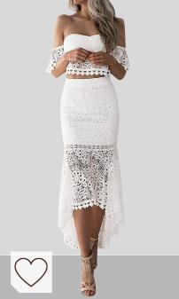 Mejores Vestidos Blancos Moda Verano 2020 en Colores del Arcoíris. SEWORLD Falda lápiz sin Espalda con Espalda de Tubo de Encaje de Verano para Mujer Vestido