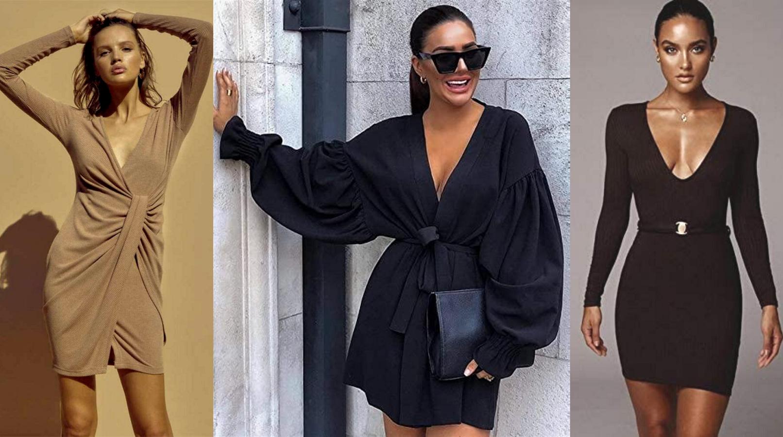 Guia de Tendencias Moda Mujer Otoño Invierno 2020. Vestidos Mujer con escote en V