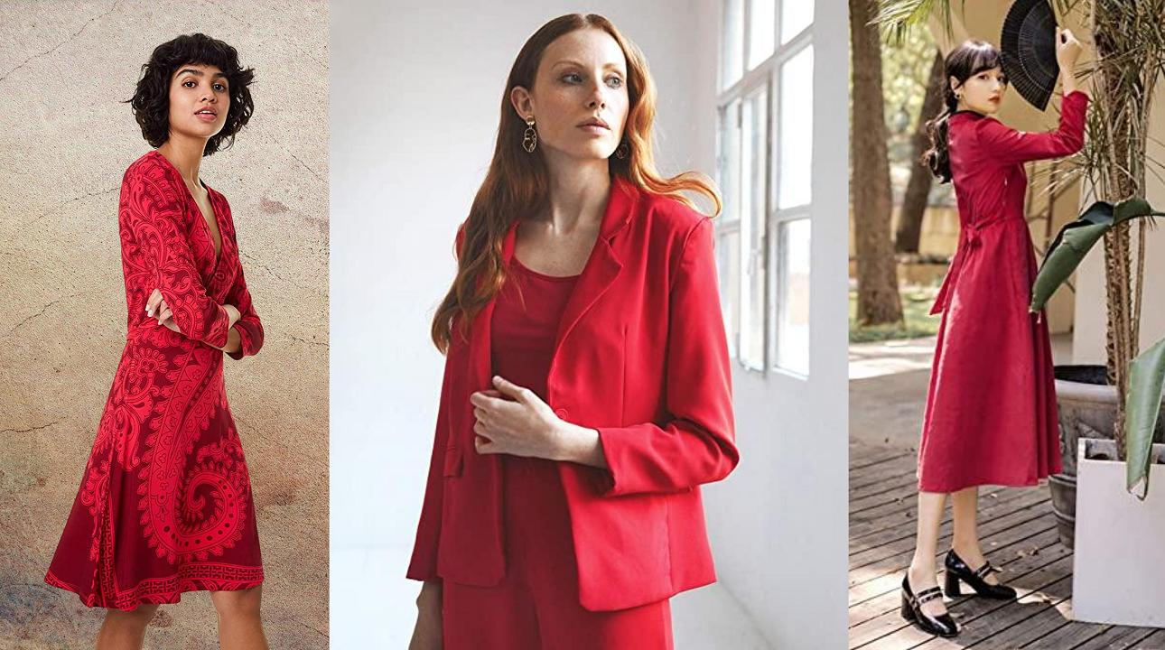 Vestidos de color rojo en Amazon. Guía mujer moda otoño invierno 2020