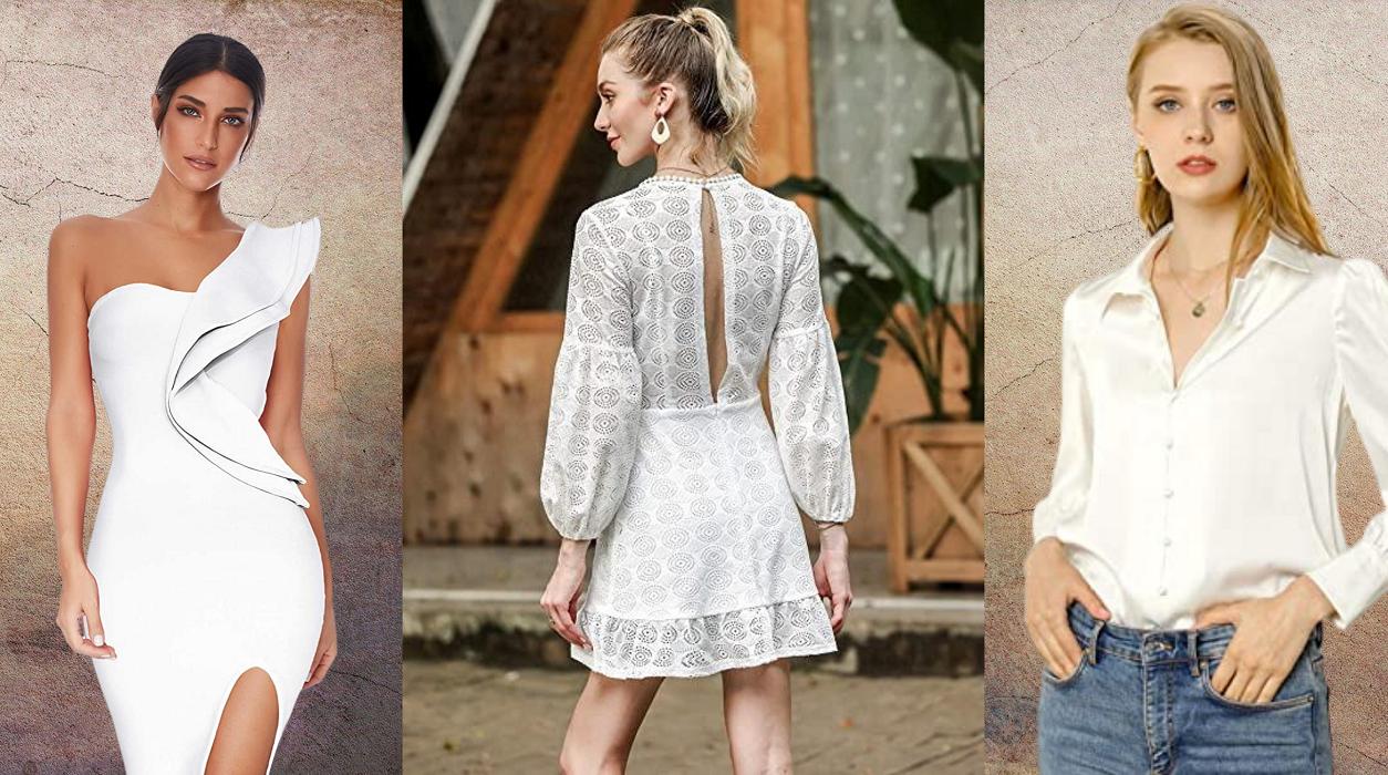 Tendencias moda mujer en Colores del Arcoíris. Guia de tendencias moda otoño-invierno 2020. Allegra K Blusa De Trabajo Botón Abajo Cuello Vuelto Manga De Soplo Camisa Clásica para Mujeres