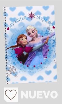 Material Escolar Frozen en Amazon en Colores del Arcoíris. Disney Frozen- Libreta Folio 80 Hojas Tapas duras (SAFTA 511538066)
