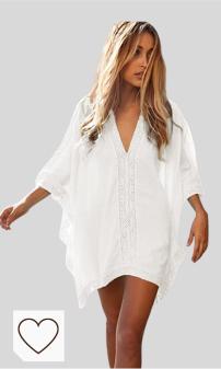 Mejores Vestidos Playa para Mujer en Colores del Arcoíris. Jfan Vestido Suelto de Bikini Mujer Ropa de Baño Playa Traje de Baño Vestido de Bikini Camisolas y Pareos
