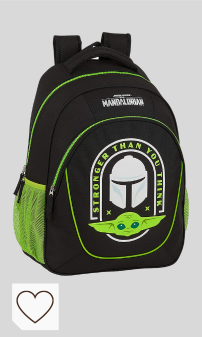 Mejores Mochilas Escolares Mandalorian Star Wars en Amazon en Colores del Arcoíris. Safta 612041391 Mochila Escolar Adaptable a Carro The Mandalorian