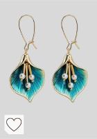 Mejores pendientes en Amazon para mujer en Colores del Arcoíris. Pendientes Yazilind Ginkgo biloba en forma de árbol, imitación de perla, aleación, joyas para niñas, gotas