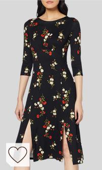 Tendencias de Moda Mujer Otoño Invierno 2020 Moda Amazon y Moda Colores del Arcoíris. Dorothy Perkins Red Stem Floral Jersey Empire Midi Dress Vestido para Mujer