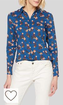 Tendencias de Mo da Otoño Invierno 2020 en Moda Amazon y Moda Colores del Arcoíris. Scotch & Soda Fitted Cotton Viscose Shirt Blusa para Mujer