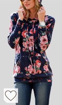 Tendencias Moda Otoño-Invierno 2020 Mujer en Moda Amazon y Moda Colores del Arcoíris. Lover-Beauty Sudadera con Capucha y Bolsillos Manga Larga Blusa Tops Suéter Básico Estampado 2018 Primavera Otoño Invierno Verano Hoodie Nadvidad