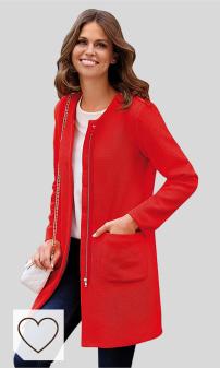 Guía Tendencias Moda Mujer Otoño Invierno 2020. VENCA Abrigo Abertura Trasera en el bajo Mujer by Vencastyle - 022722