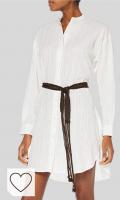 REPLAY Vestido para Mujer en Amazon Moda. Vestido Blanco camisero