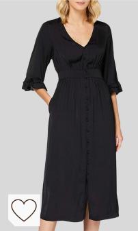 Mejores Vestidos Negros en Moda Amazon y en Colores del Arcoíris. Scotch & Soda Midi Length V-Neck Dress with Ruffles Vestido para Mujer