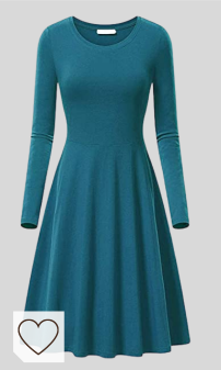 Vestido Azul Amazon Moda para mujer. YMING - Vestido de lanfarm para mujer, corte ajustado, cuello redondo, tallas XS-3XL