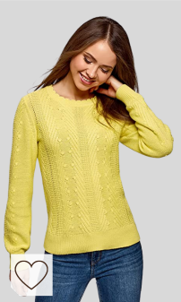 Jersey Mujer Amarillo Amazon Moda selección Colores del Arcoíris. oodji Ultra Mujer Jersey de Punto Texturizado