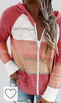Mejores Sudaderas y Chaquetas Mujer Amazon Moda en Colores del Arcoíris. Puimentiua Chaqueta Jerséis de Punto con Capucha para Mujer Abrigo Sudadera de Manga Larga con Cremallera para Otoño Invierno