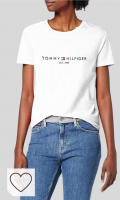 Tommy Hilfiger New TH ESS Hilfiger C-nk tee SS Camiseta para Mujer