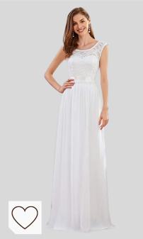 Ever-Pretty Vestido de Fiesta Noche Largo para Mujer Imperio Encaje Gasa A-línea Elegant 00646