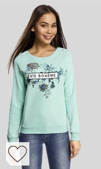 oodji Ultra Mujer Suéter con Bordado y Estampado Floral
