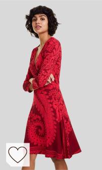 Mejores Vestidos Rojos Desigual en Moda Amazon. Marca Amazon - find. Vestido Mujer