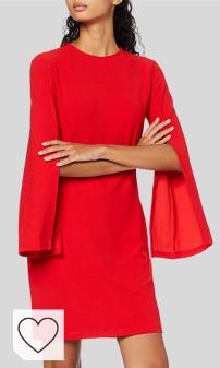 Mejores Vestidos Rojos en Moda Amazon en Colores del Arcoíris. Marca Amazon - find. Vestido Mujer
