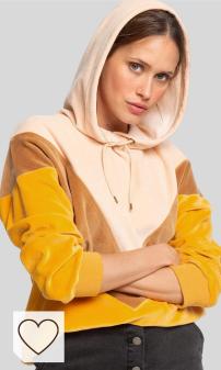 Mejores Sudaderas Mujer Otoño 2020 Amazon Moda en Colores del Arcoíris. Roxy Chasing Waves-Velour Hoodie para Mujer