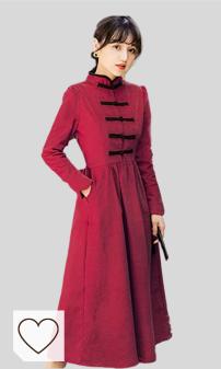 Susichou Qipao - Vestido de pana chino estilo chino de otoño mejorado