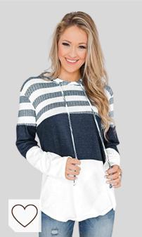 Mejores Sudaderas Mujer y jersey Amazon Moda en Colores del Arcoíris. Marysay - Sudadera con capucha y cordón para mujer, diseño de rayas, color