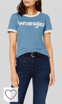 Mejores Camisetas Wrangler Mujer Amazon Moda. Wrangler SS Ringer tee Camiseta para Mujer