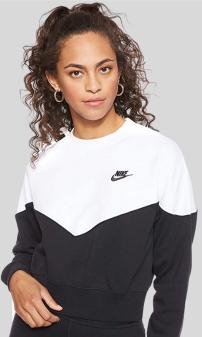 Mejores Sudaderas Deportivas Mujer en Amazon Moda Ropa Deportiva Mujer en Colores del Arcoíris. NIKE W NSW Hrtg Crew FLC - Camiseta de Manga Larga Mujer