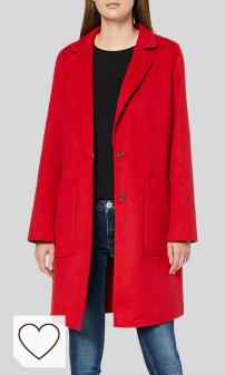 Abrigos Rojos para Mujer en Amazon. Sisley Coat Abrigo para Mujer