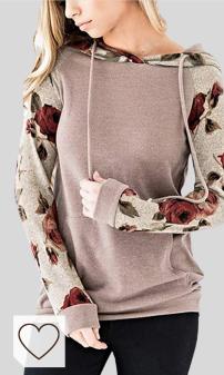 Mejores Sudaderas Mujer Amazon Moda en Colores del Arcoíris. ABRAVO Mujer Sudadera con Capucha Manga Larga Jerséis Sueltos Sudadera con Estampado la Camiseta Otoño Invierno Mujer Chándal