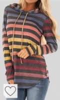 Sudaderas Mujer Arcoíris Amazon Moda Mujer. Dazosue Mujer Sudadera Rayas con Capucha Suéter Colorido Casual Jersey Largo Invierno Otoño