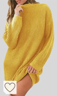 Jersey Punto Grueso Otoño Invierno Mujer Moda Amazon Mujer en Colores del Arcoíris. Iycorish Vestido de SuéTer Largo Suelto para Mujer de Punto Grueso Oto?O Invierno Vestido de SuéTer de Gran Tama?O Informal Vestido Verde Talla L